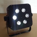 éclairage LED sans fil de PARITÉ de la batterie DEL de 6PCS Rgbaw