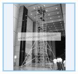 Veilig Ce ging het Mobiele Aluminium van de Steiger voor Decoratie over