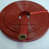 Protector hidráulico cubierto silicón resistente al fuego resistente al calor del manguito de la fibra de vidrio