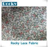 Tessuto domestico del merletto della stampa del merletto del poliestere di modo della tessile