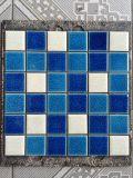 De blauwe Tegel van het Mozaïek van het Zwembad van de Barst van het Ijs Ceramische