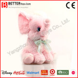 Elefante cor-de-rosa pequeno do brinquedo macio bonito para a menina