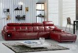 Sofa moderne de cuir de L-Forme de salle de séjour pour la maison (HX-FZ024)