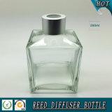 quadratischer Diffuser- (Zerstäuber)glasflasche des Duft-200ml mit Überwurfmutter