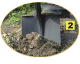 Scherpe Spade van het Staal van de tuin de Hulpmiddelen Gesmede om Schop met het Handvat van de Glasvezel