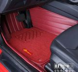 Esteira 3D do assoalho do carro com Leatherette 5-Layer