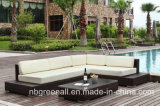 L rattan esterno di figura/mobilia d'angolo di vimini del giardino del sofà