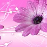 Картина маслом хризантемы напечатанная Inkjet для домашнего украшения