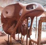 Het gouden Beeldhouwwerk van het Metaal van de Tuin van de Schedel van de Vogel Hoofd, Binnen Openlucht Vierkante