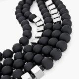 Ожерелье горячих ювелирных изделий заявления веревочки ожерелья черных шариков женщин способа разнослоистых длиннее для женщин