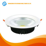 Incrustar Die techo de aluminio fundido 10W 20W 30W COB LED Downlight