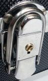 Caja de herramientas portable de aluminio negra grande