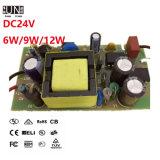 Bloc d'alimentation du bâti ouvert DEL, gestionnaire interne de 6W 9W 12W 12V DEL pour MR16, GU10, lumière d'endroit de DEL, stricte sur le gestionnaire du contrôle de qualité DEL