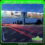 屋外のデジタルSigange LEDスクリーンの鉄骨構造の掲示板