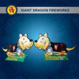 Fuegos artificiales de la novedad de los fuegos artificiales del juguete de los fuegos artificiales del perro