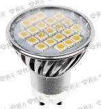 Luz del punto de /LED de la bombilla de SMD 21PCS 3.1W (GU10/MR-16/JDRE14/E27)