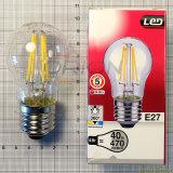 Lámpara de filamento de la lámpara 4W 6W 8W E27 A60 LED del filamento LED