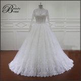 Ivory Hochzeits-Kleid-lange Hülsen-Brautkleid 2016