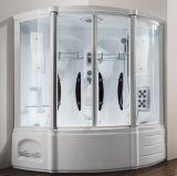 1.53 Metros de Asia acrílico cubierta sauna de vapor con bañera
