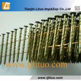 15 Steel Clavos Helicoidales Pregos Em van de Spijkers van de Rol van de Pallet van de graad de Pneumatische Vlotte Verdraaide