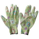 Gant de travail tricoté par polyester avec des nitriles N1561-3 de plongement)