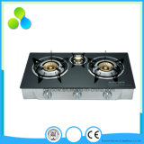 Estufa 2-3 quemador superior de cristal de Gas