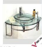 角のガラス洗面器(VS-G12)