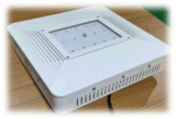 75W 110W 150W IP66 LED 주유소를 위한 천장에 의하여 중단되는 닫집 빛