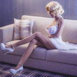 Pussy van Doll van het Geslacht van de Ogen van 165cm het Dichte Realistische Echte Stuk speelgoed van de Liefde