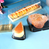 Envase negro plástico de la salud con la tapa para la fábrica del pan/de la torta/del sushi