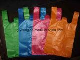 Verschiedene Wegwerffarben-Plastikshirt-Beutel