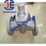 Valvola a rubinetto industriale a tre vie della flangia dell'acciaio inossidabile di API/DIN/JIS