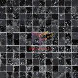 Mosaico de vidro de cristal com gelo-rachado preto (CC149)
