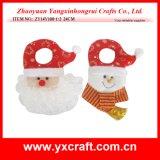 Tela del material del aro de la puerta de la Navidad de la decoración de la Navidad (ZY14Y107-1-2)