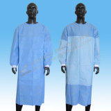 Robe chirurgicale jetable jetable stérile, robe médicale, robe d'hôpital, robe d'isolement SBPP