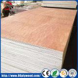 madera contrachapada comercial del álamo de 18m m con la cara de Bintangor/Okoume