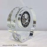 Horloge en verre Mn-5166 de bureau de décoration en cristal simple d'horloge