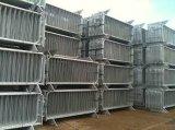 barreiras revestidas PVC do controle de multidão de 32*1.5mm usadas para o canteiro de obras