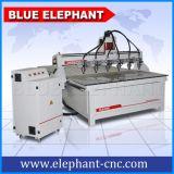 Máquina de múltiplos propósitos do Woodworking, máquina de cinzeladura de madeira do CNC de 8 eixos