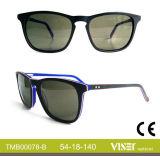 Moderne handgemachte Azetat-Sonnenbrillen Eyewear (78-C)