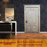 Porte en bois solide de découpage de luxe faite face blanche de teck (GSP2-080)