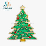 China Factory Wholesale Enamel Christmas Snowman Custom Button Pin Lapel