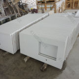 Bancada pura da cozinha da pedra de quartzo do branco 3cm do Ce (C1704031)
