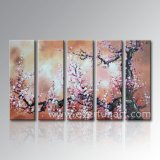 Pintura al óleo pintada a mano de Large Modern Wall Decorative Art Abstract Plum Blossom Flower en Canvas