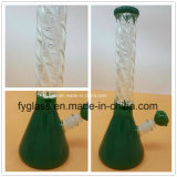 Nouveau tube à eau de fumée de verre avec verre de couleur