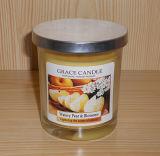 La vela de cristal del tarro en muchos diseña