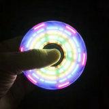 Fileur coloré de main de personne remuante de configuration d'éclairage LED