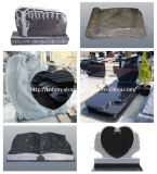 까만 Stone Monument, 묘지를 위한 Granite Grave Cross Tombstone/Headstone