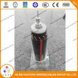 Solo cable neutral concéntrico del alambre 35kv Mv-90 de Trxlp 250mcm 1/3 de la base