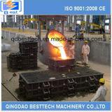 Poche de coulée d'acier d'usine sidérurgique